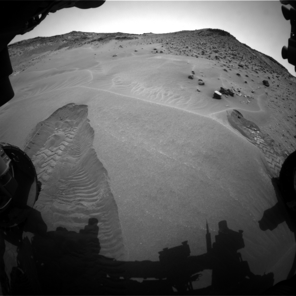 Nasa's Mars rover Curiosity acquired this image using its Front Hazard Avoidance Camera (Front Hazcam) on Sol 984, at drive 1638, site number 47