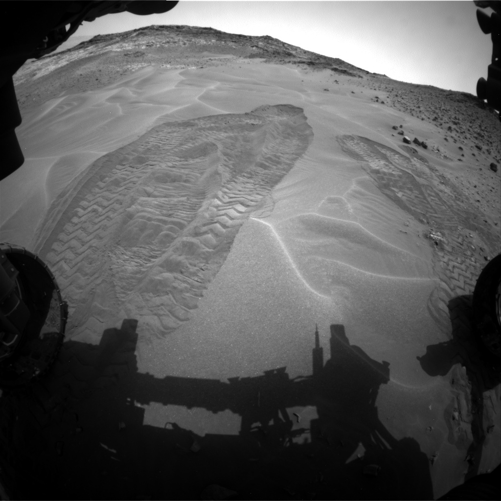 NASA's Mars rover Curiosity acquired this image using its Front Hazard Avoidance Cameras (Front Hazcams) on Sol 984