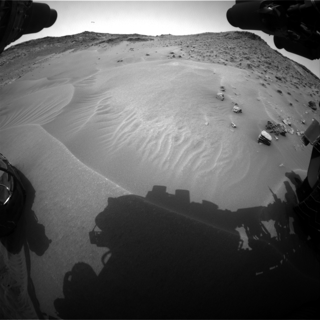 Nasa's Mars rover Curiosity acquired this image using its Front Hazard Avoidance Camera (Front Hazcam) on Sol 984, at drive 1632, site number 47