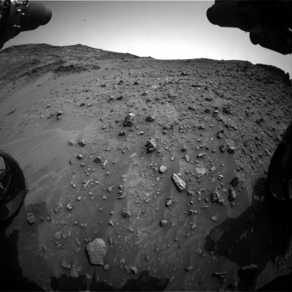 Nasa's Mars rover Curiosity acquired this image using its Front Hazard Avoidance Camera (Front Hazcam) on Sol 984, at drive 0, site number 48