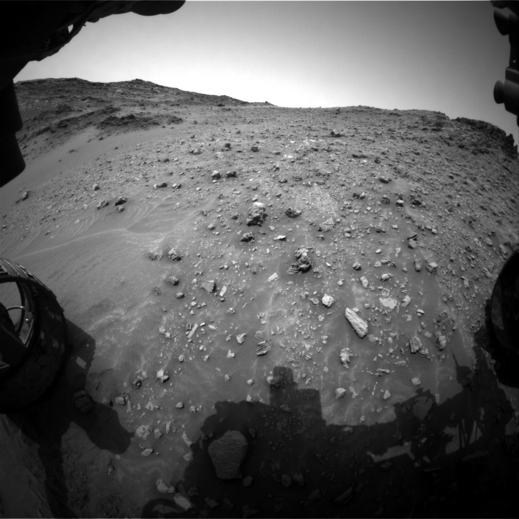 Nasa's Mars rover Curiosity acquired this image using its Front Hazard Avoidance Camera (Front Hazcam) on Sol 985, at drive 0, site number 48