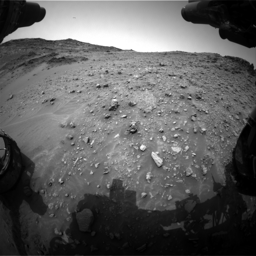Nasa's Mars rover Curiosity acquired this image using its Front Hazard Avoidance Camera (Front Hazcam) on Sol 986, at drive 0, site number 48