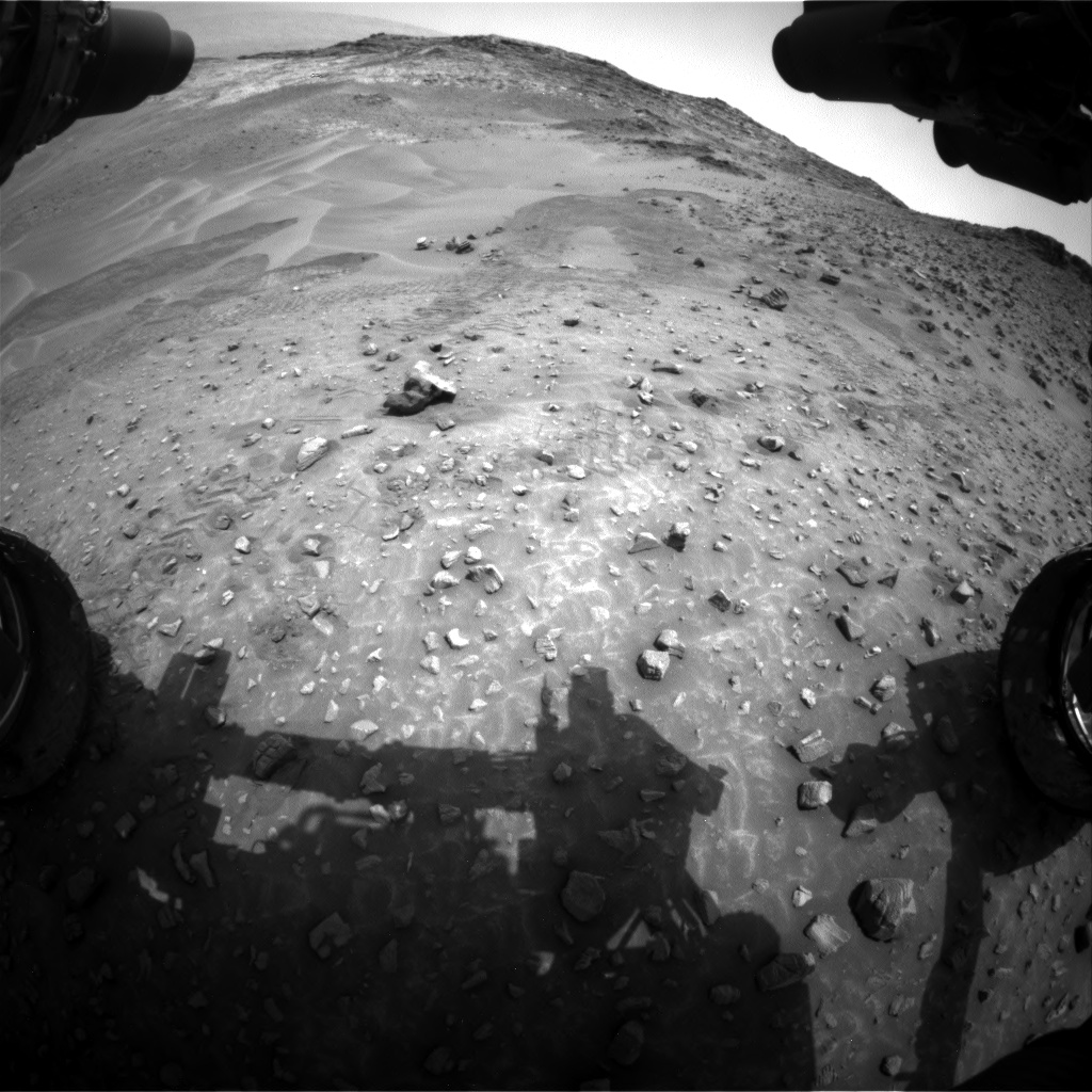 Nasa's Mars rover Curiosity acquired this image using its Front Hazard Avoidance Camera (Front Hazcam) on Sol 986, at drive 82, site number 48