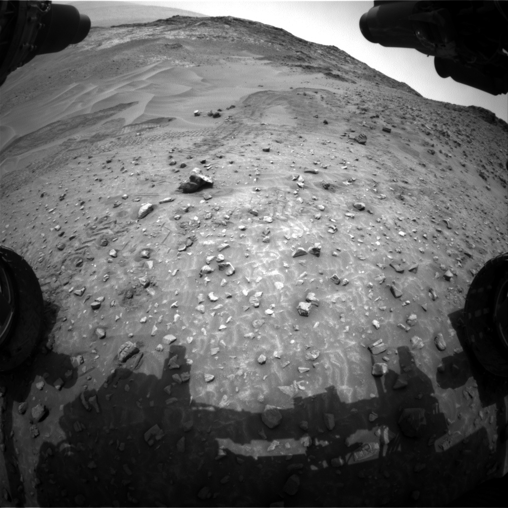 Nasa's Mars rover Curiosity acquired this image using its Front Hazard Avoidance Camera (Front Hazcam) on Sol 987, at drive 82, site number 48