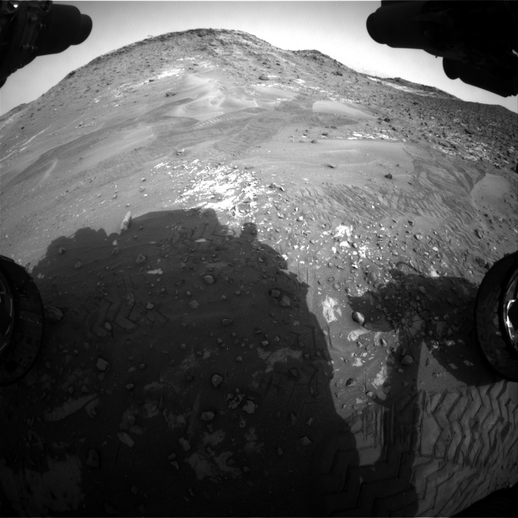 NASA's Mars rover Curiosity acquired this image using its Front Hazard Avoidance Cameras (Front Hazcams) on Sol 987