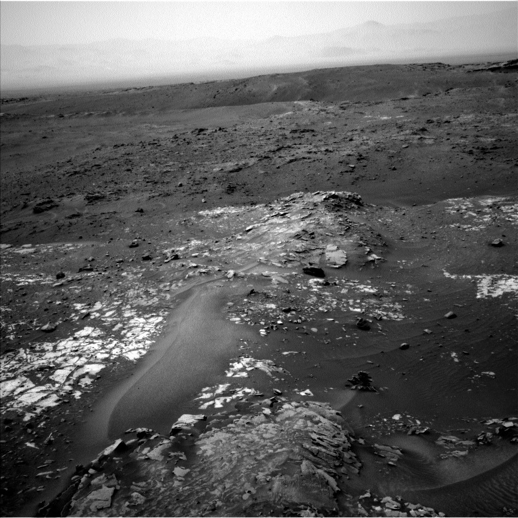 Nasa's Mars rover Curiosity acquired this image using its Left Navigation Camera on Sol 987, at drive 448, site number 48