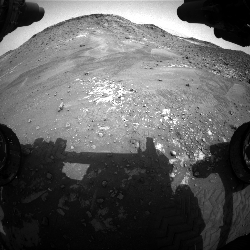 Nasa's Mars rover Curiosity acquired this image using its Front Hazard Avoidance Camera (Front Hazcam) on Sol 988, at drive 458, site number 48