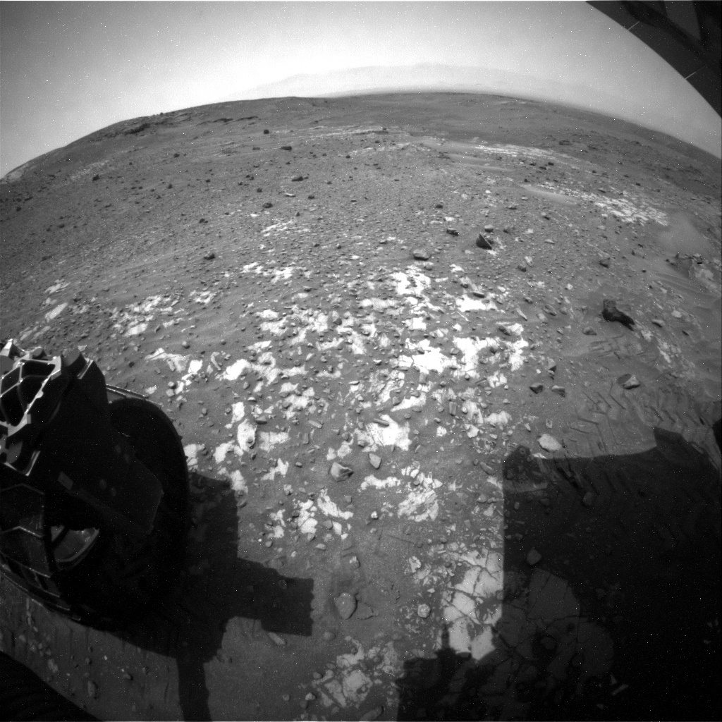 NASA's Mars rover Curiosity acquired this image using its Rear Hazard Avoidance Cameras (Rear Hazcams) on Sol 988