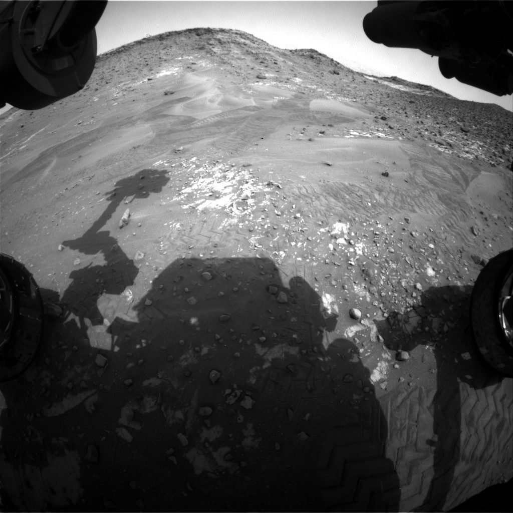 Nasa's Mars rover Curiosity acquired this image using its Front Hazard Avoidance Camera (Front Hazcam) on Sol 989, at drive 458, site number 48