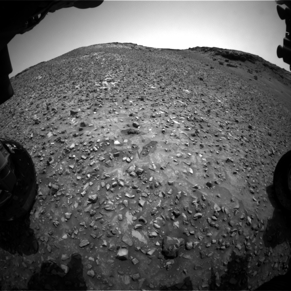 Nasa's Mars rover Curiosity acquired this image using its Front Hazard Avoidance Camera (Front Hazcam) on Sol 990, at drive 876, site number 48