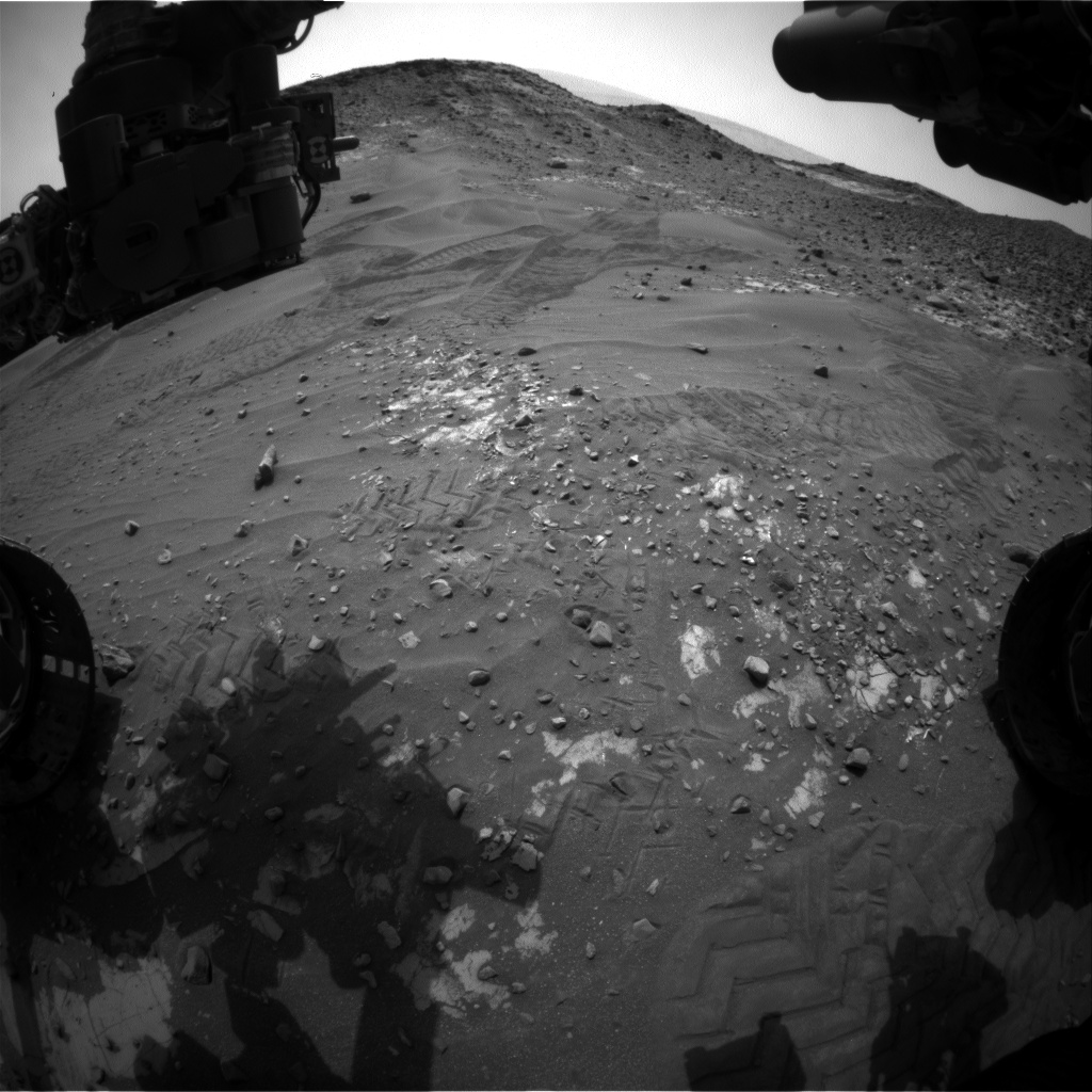 Nasa's Mars rover Curiosity acquired this image using its Front Hazard Avoidance Camera (Front Hazcam) on Sol 990, at drive 458, site number 48
