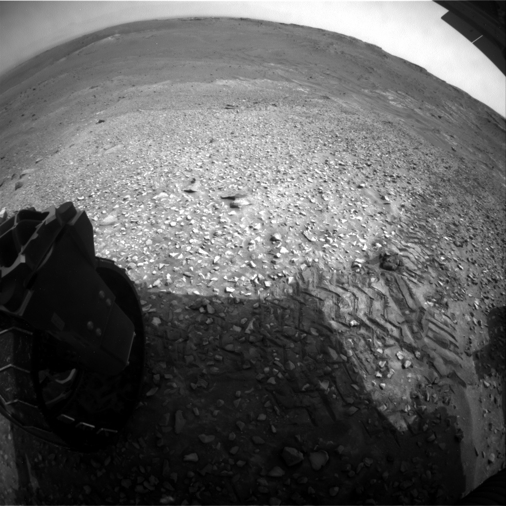 NASA's Mars rover Curiosity acquired this image using its Rear Hazard Avoidance Cameras (Rear Hazcams) on Sol 991