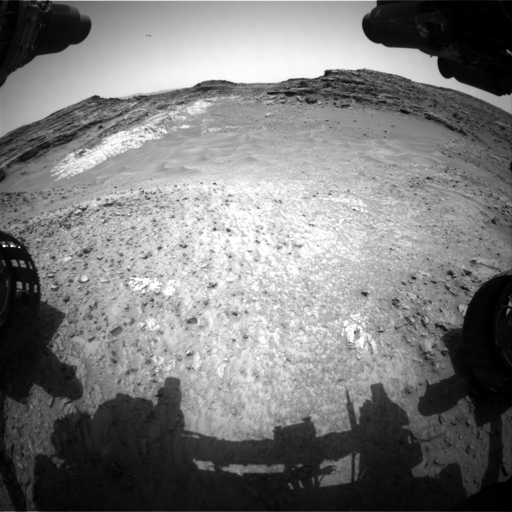 Nasa's Mars rover Curiosity acquired this image using its Front Hazard Avoidance Camera (Front Hazcam) on Sol 992, at drive 1194, site number 48