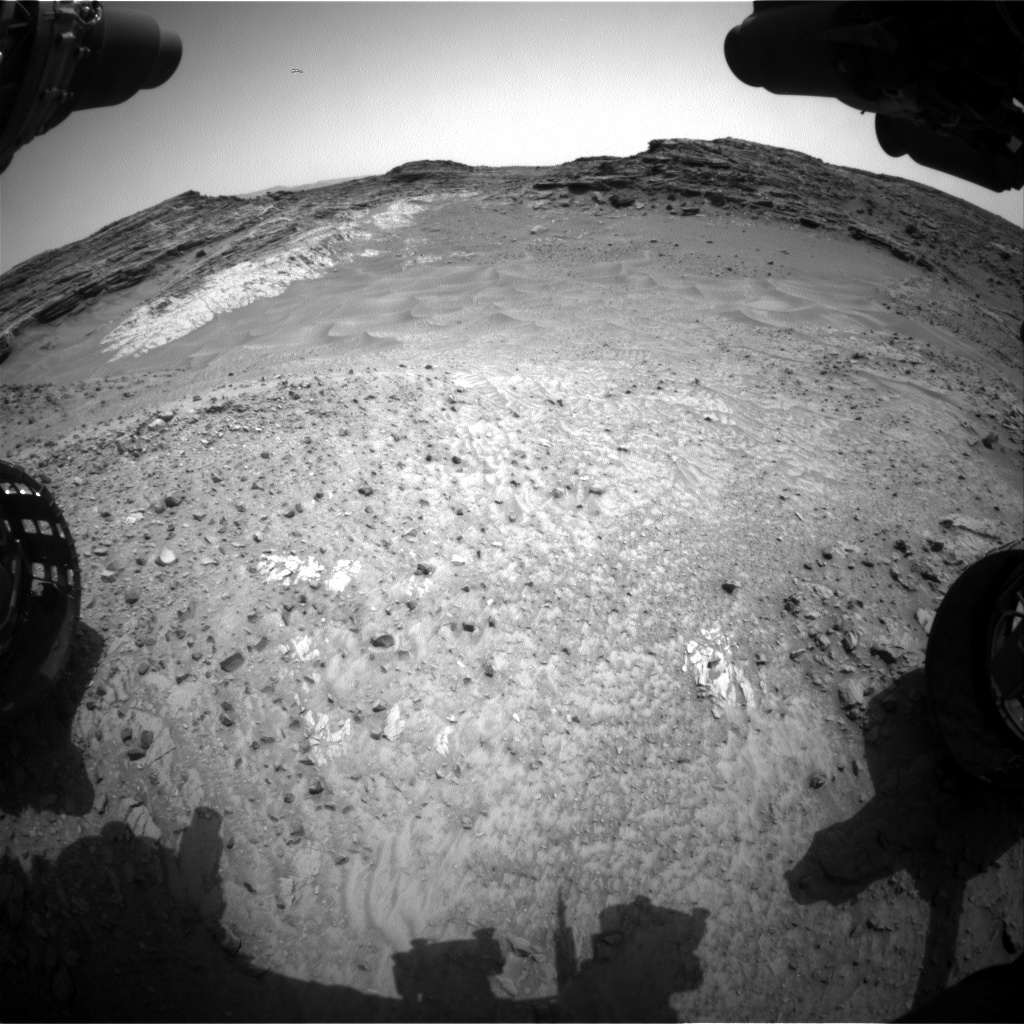 Nasa's Mars rover Curiosity acquired this image using its Front Hazard Avoidance Camera (Front Hazcam) on Sol 993, at drive 1194, site number 48