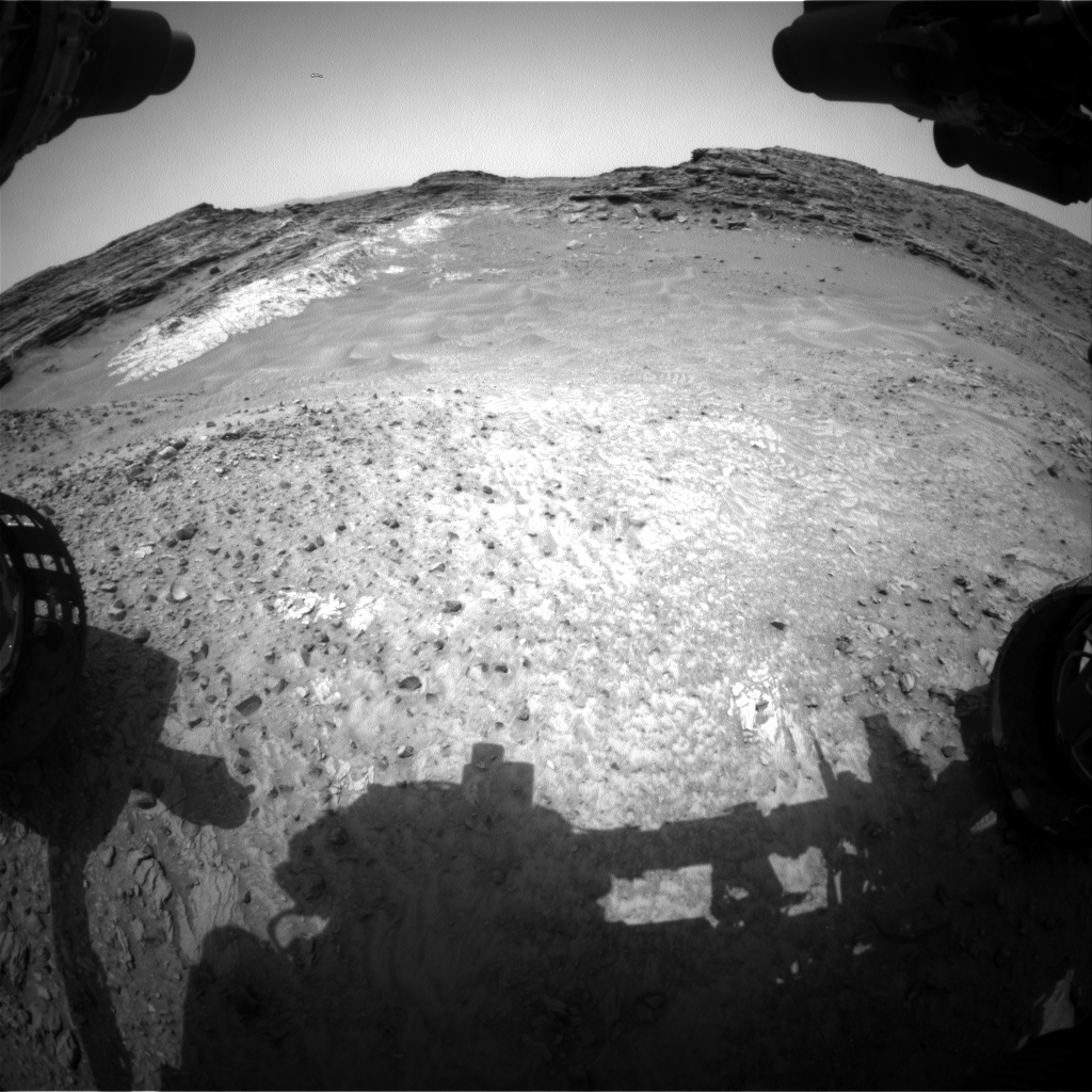 Nasa's Mars rover Curiosity acquired this image using its Front Hazard Avoidance Camera (Front Hazcam) on Sol 995, at drive 1194, site number 48