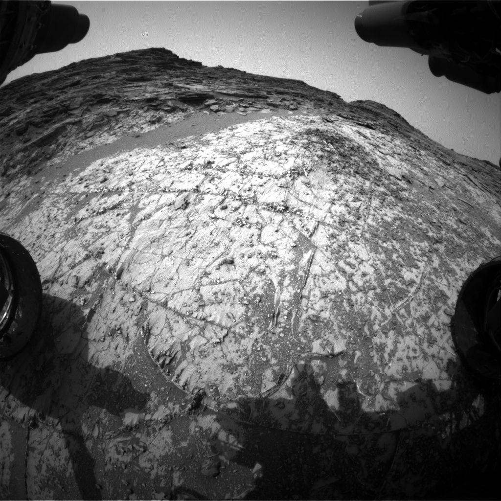 Nasa's Mars rover Curiosity acquired this image using its Front Hazard Avoidance Camera (Front Hazcam) on Sol 996, at drive 1530, site number 48