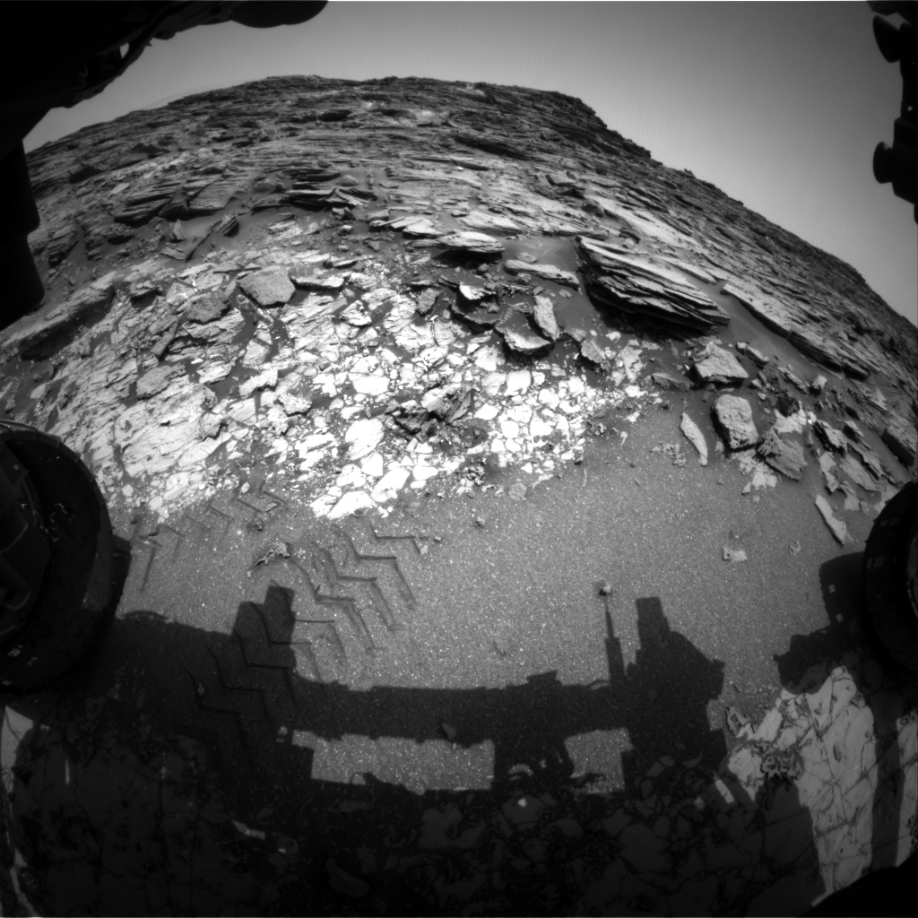 Nasa's Mars rover Curiosity acquired this image using its Front Hazard Avoidance Camera (Front Hazcam) on Sol 997, at drive 1570, site number 48