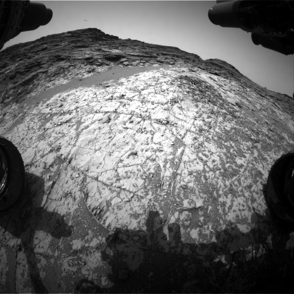 Nasa's Mars rover Curiosity acquired this image using its Front Hazard Avoidance Camera (Front Hazcam) on Sol 997, at drive 1530, site number 48