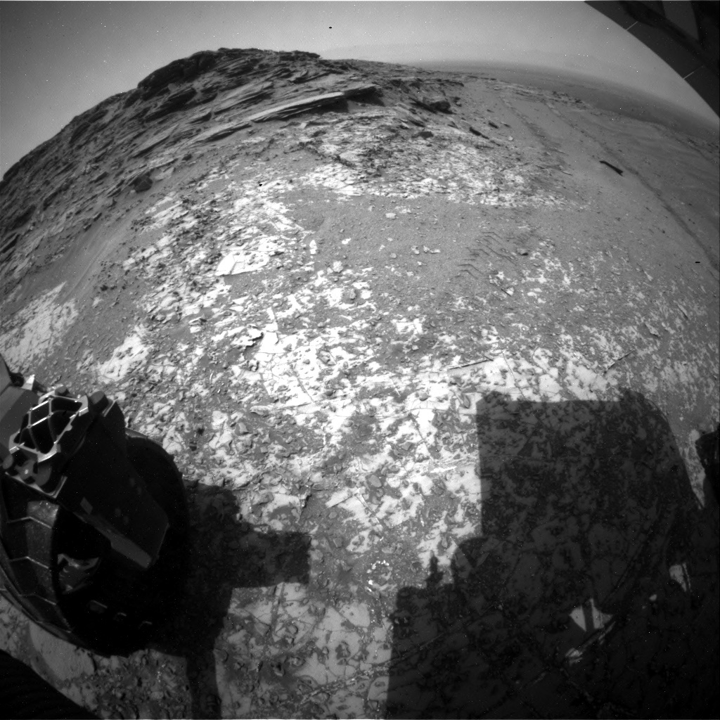 NASA's Mars rover Curiosity acquired this image using its Rear Hazard Avoidance Cameras (Rear Hazcams) on Sol 997