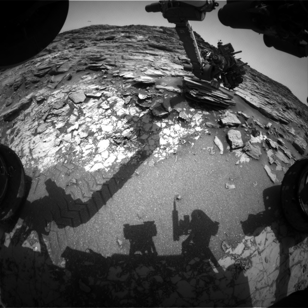 Nasa's Mars rover Curiosity acquired this image using its Front Hazard Avoidance Camera (Front Hazcam) on Sol 998, at drive 1570, site number 48