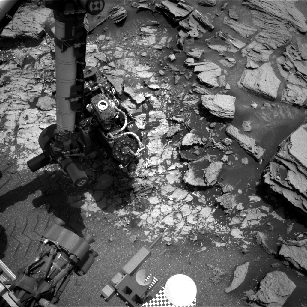 Nasa's Mars rover Curiosity acquired this image using its Right Navigation Camera on Sol 999, at drive 1570, site number 48