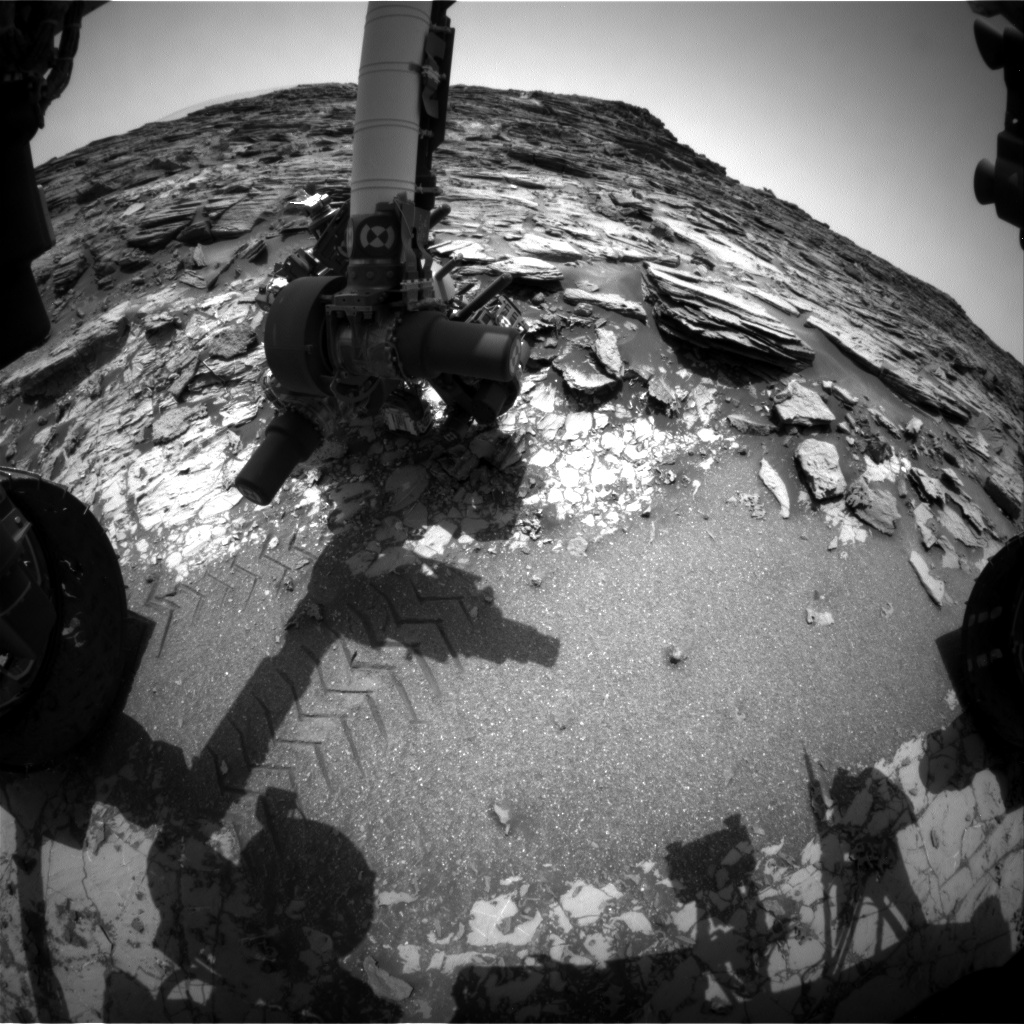 Nasa's Mars rover Curiosity acquired this image using its Front Hazard Avoidance Camera (Front Hazcam) on Sol 1000, at drive 1570, site number 48
