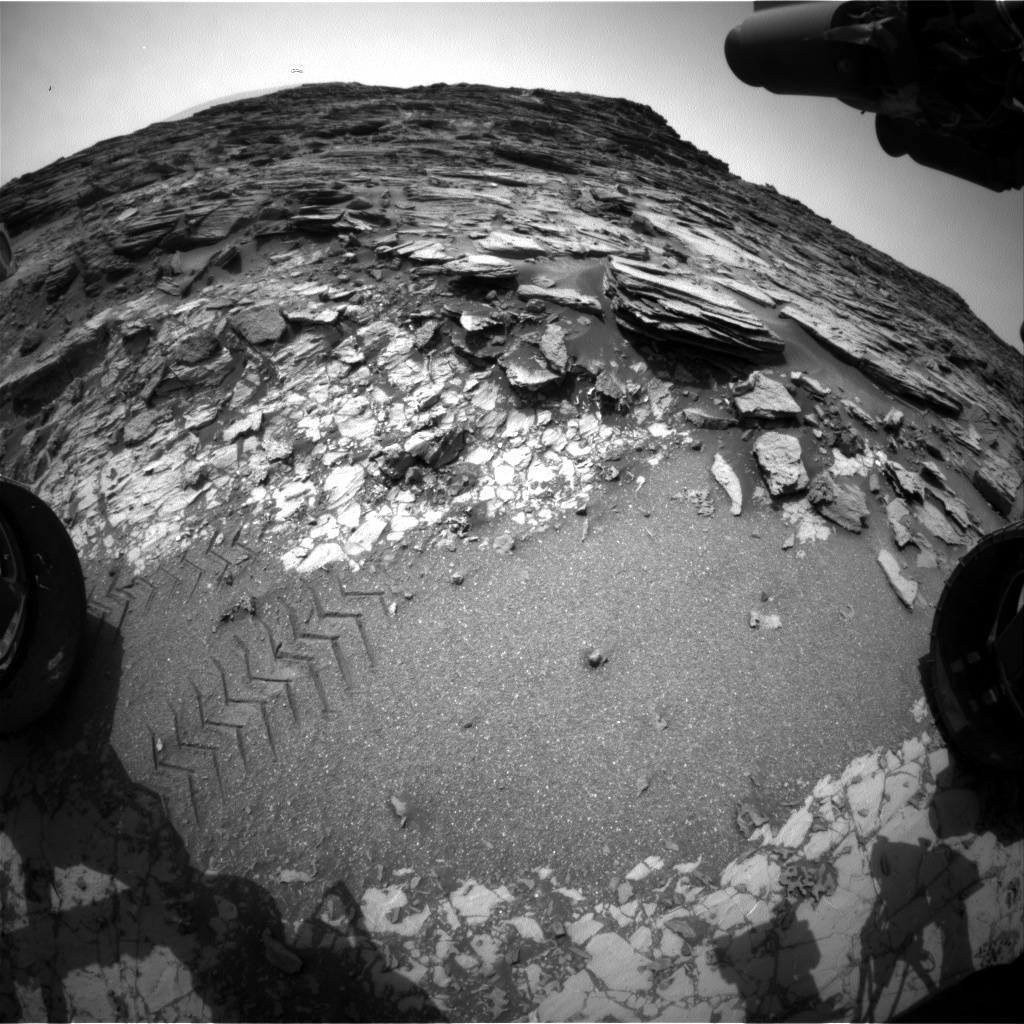 Nasa's Mars rover Curiosity acquired this image using its Front Hazard Avoidance Camera (Front Hazcam) on Sol 1001, at drive 1570, site number 48