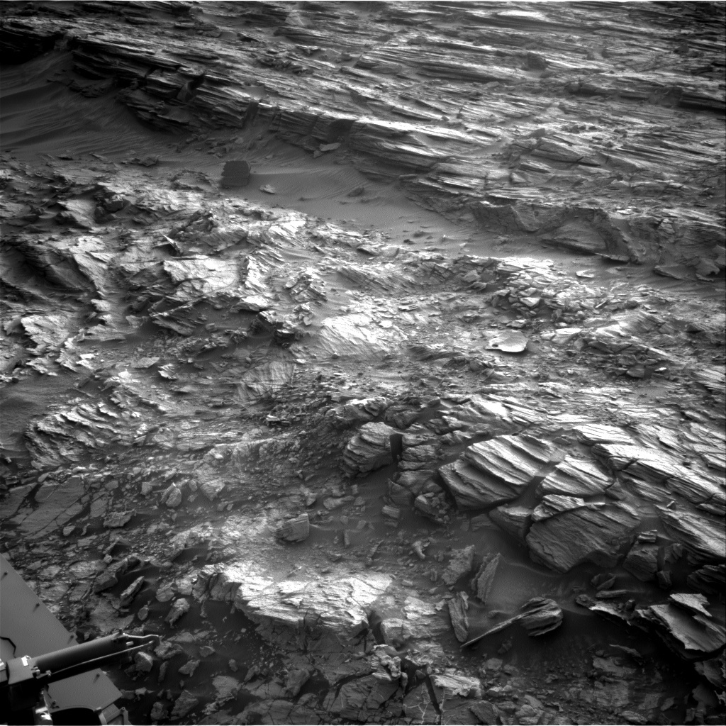 NASA's Mars rover Curiosity acquired this image using its Right Navigation Cameras (Navcams) on Sol 1001