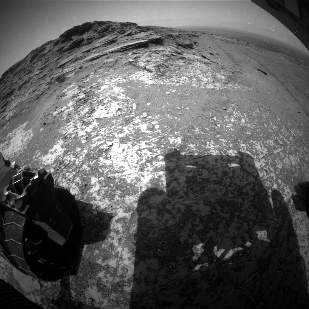 NASA's Mars rover Curiosity acquired this image using its Rear Hazard Avoidance Cameras (Rear Hazcams) on Sol 1003