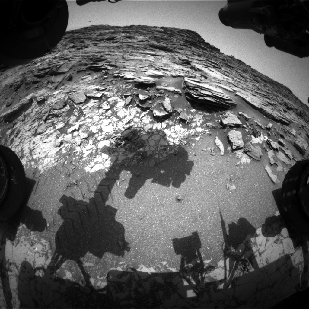 Nasa's Mars rover Curiosity acquired this image using its Front Hazard Avoidance Camera (Front Hazcam) on Sol 1027, at drive 1570, site number 48