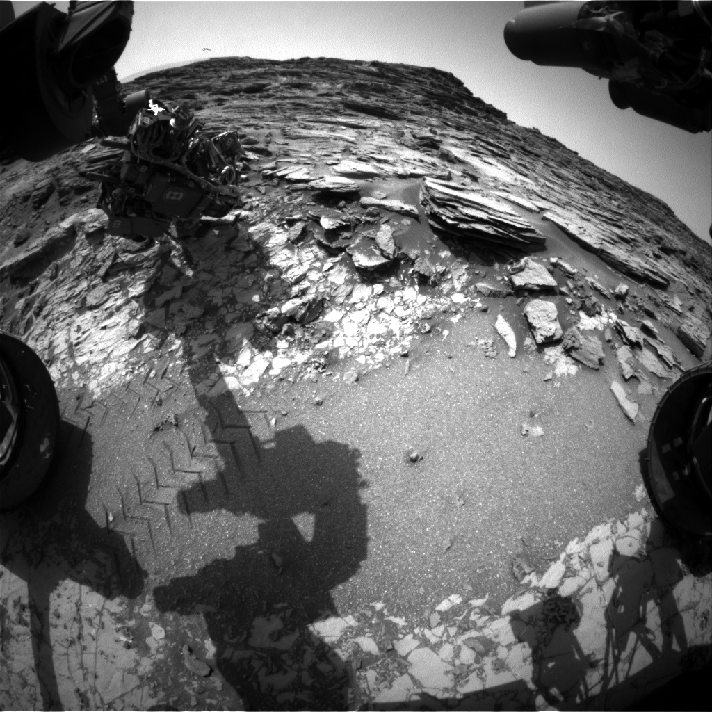 Nasa's Mars rover Curiosity acquired this image using its Front Hazard Avoidance Camera (Front Hazcam) on Sol 1029, at drive 1570, site number 48