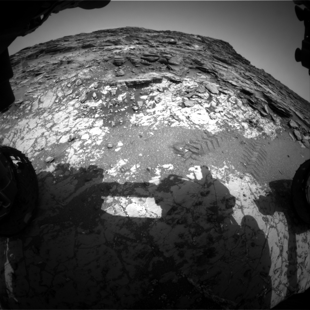Nasa's Mars rover Curiosity acquired this image using its Front Hazard Avoidance Camera (Front Hazcam) on Sol 1030, at drive 1600, site number 48