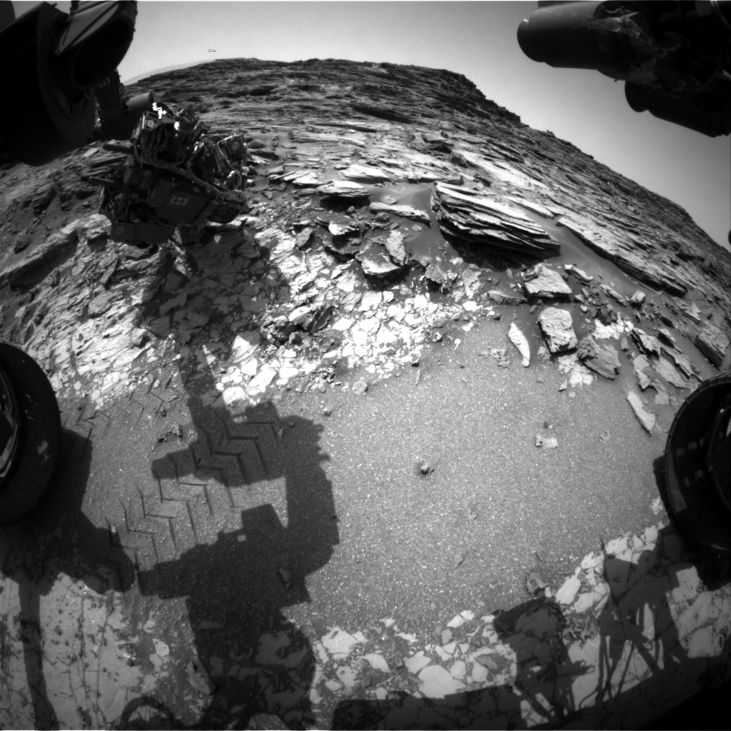 Nasa's Mars rover Curiosity acquired this image using its Front Hazard Avoidance Camera (Front Hazcam) on Sol 1030, at drive 1570, site number 48