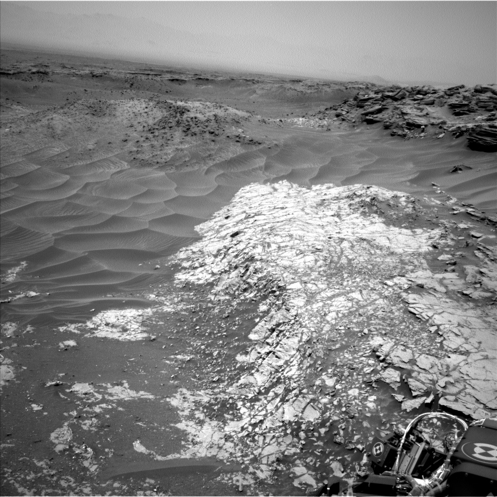 Nasa's Mars rover Curiosity acquired this image using its Left Navigation Camera on Sol 1030, at drive 1600, site number 48