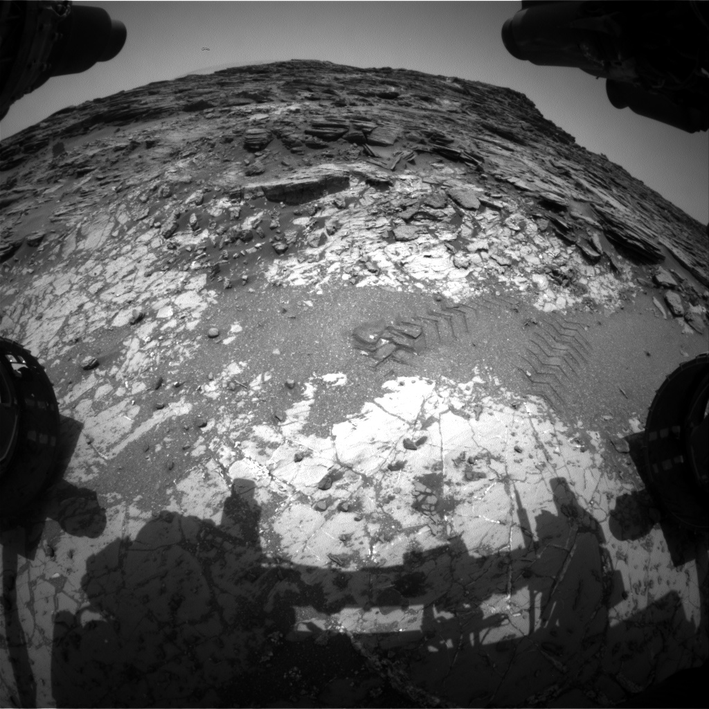 Nasa's Mars rover Curiosity acquired this image using its Front Hazard Avoidance Camera (Front Hazcam) on Sol 1031, at drive 1600, site number 48