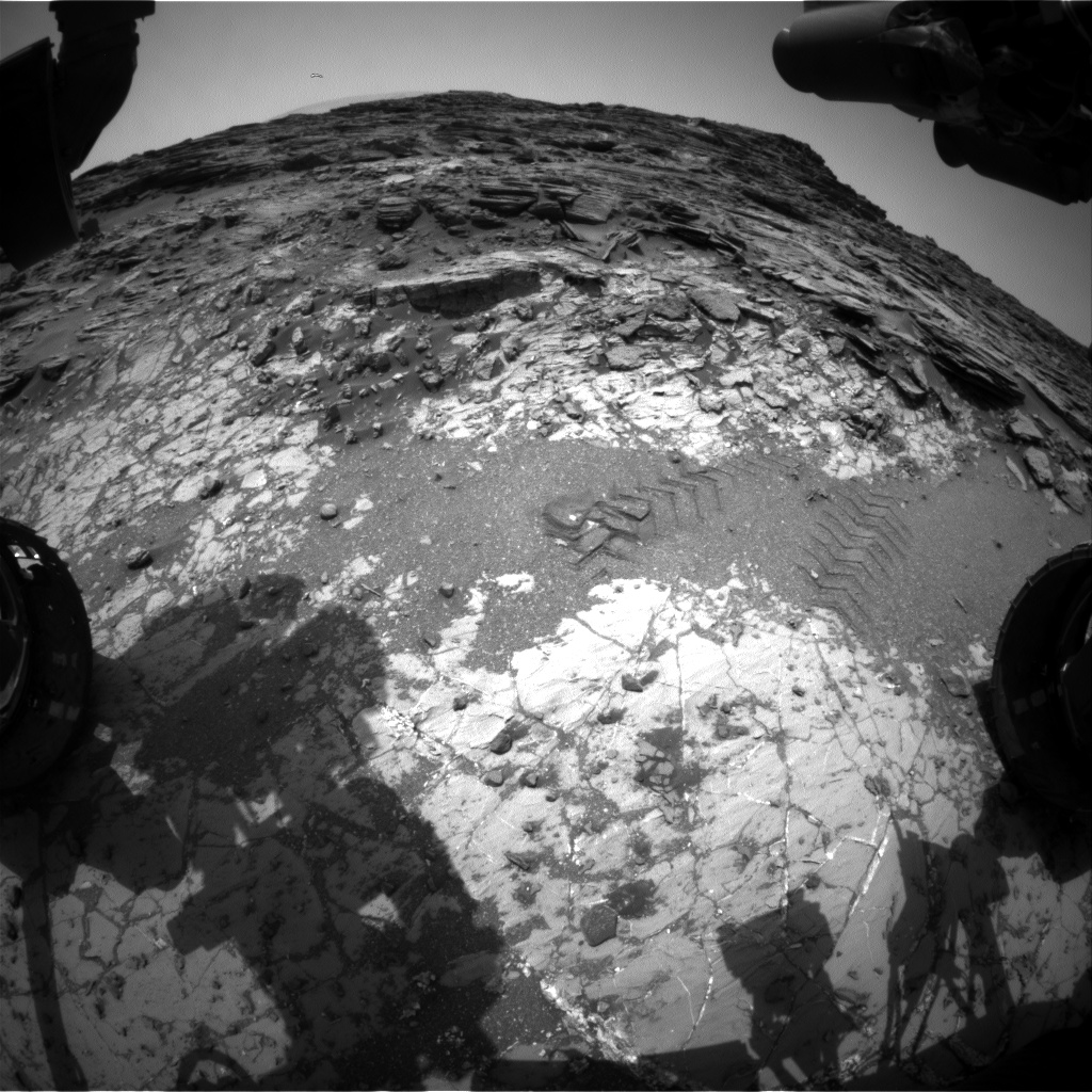 Nasa's Mars rover Curiosity acquired this image using its Front Hazard Avoidance Camera (Front Hazcam) on Sol 1032, at drive 1600, site number 48