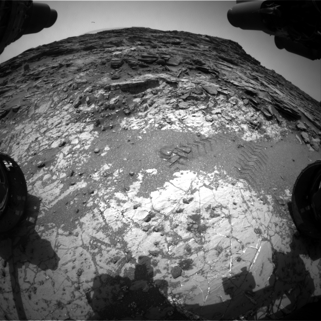 Nasa's Mars rover Curiosity acquired this image using its Front Hazard Avoidance Camera (Front Hazcam) on Sol 1034, at drive 1600, site number 48