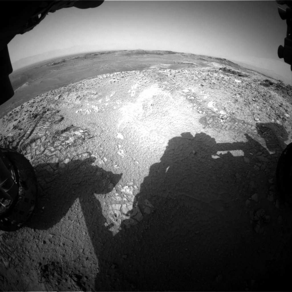 Nasa's Mars rover Curiosity acquired this image using its Front Hazard Avoidance Camera (Front Hazcam) on Sol 1035, at drive 1906, site number 48