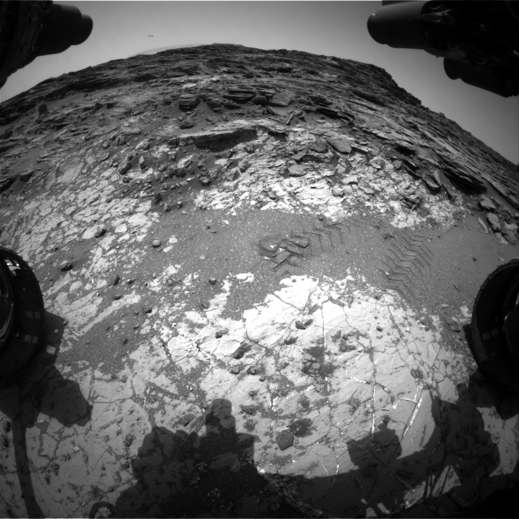 Nasa's Mars rover Curiosity acquired this image using its Front Hazard Avoidance Camera (Front Hazcam) on Sol 1035, at drive 1600, site number 48
