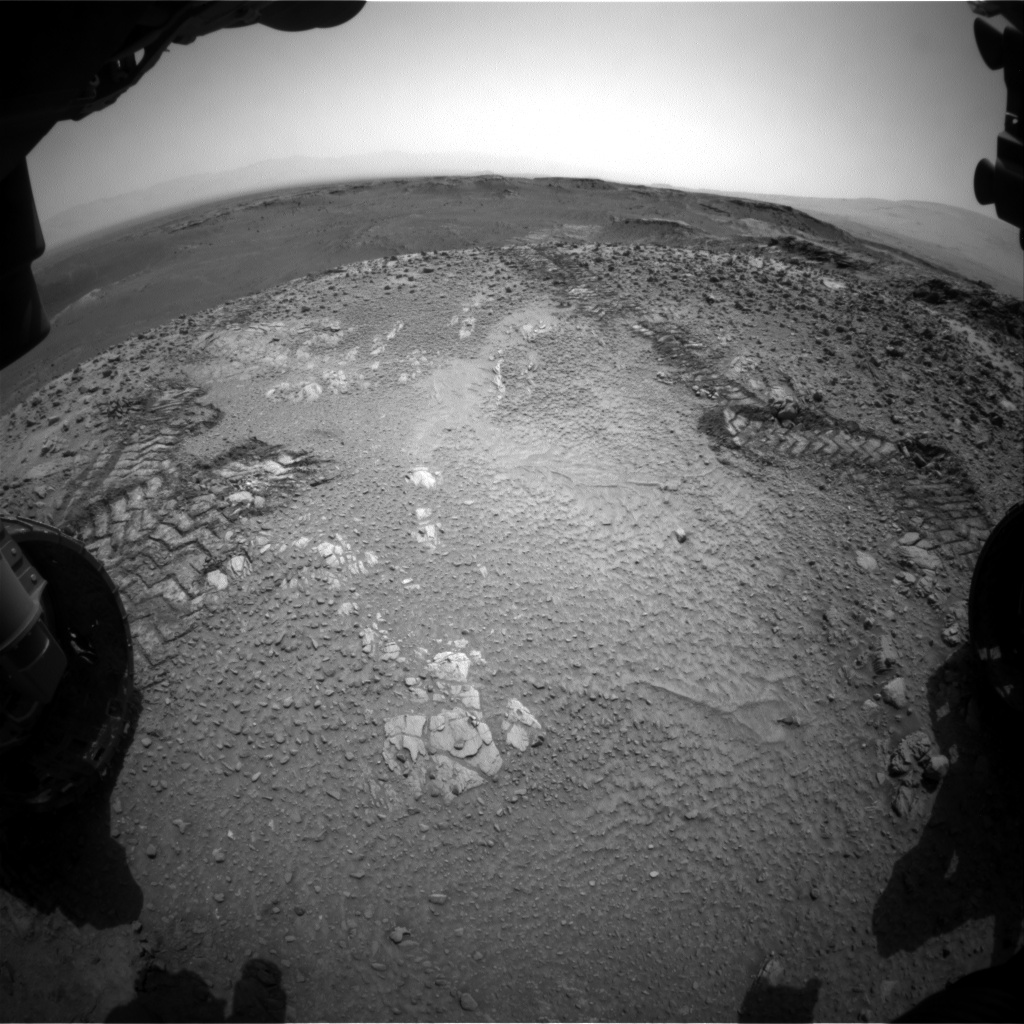 Nasa's Mars rover Curiosity acquired this image using its Front Hazard Avoidance Camera (Front Hazcam) on Sol 1036, at drive 1906, site number 48