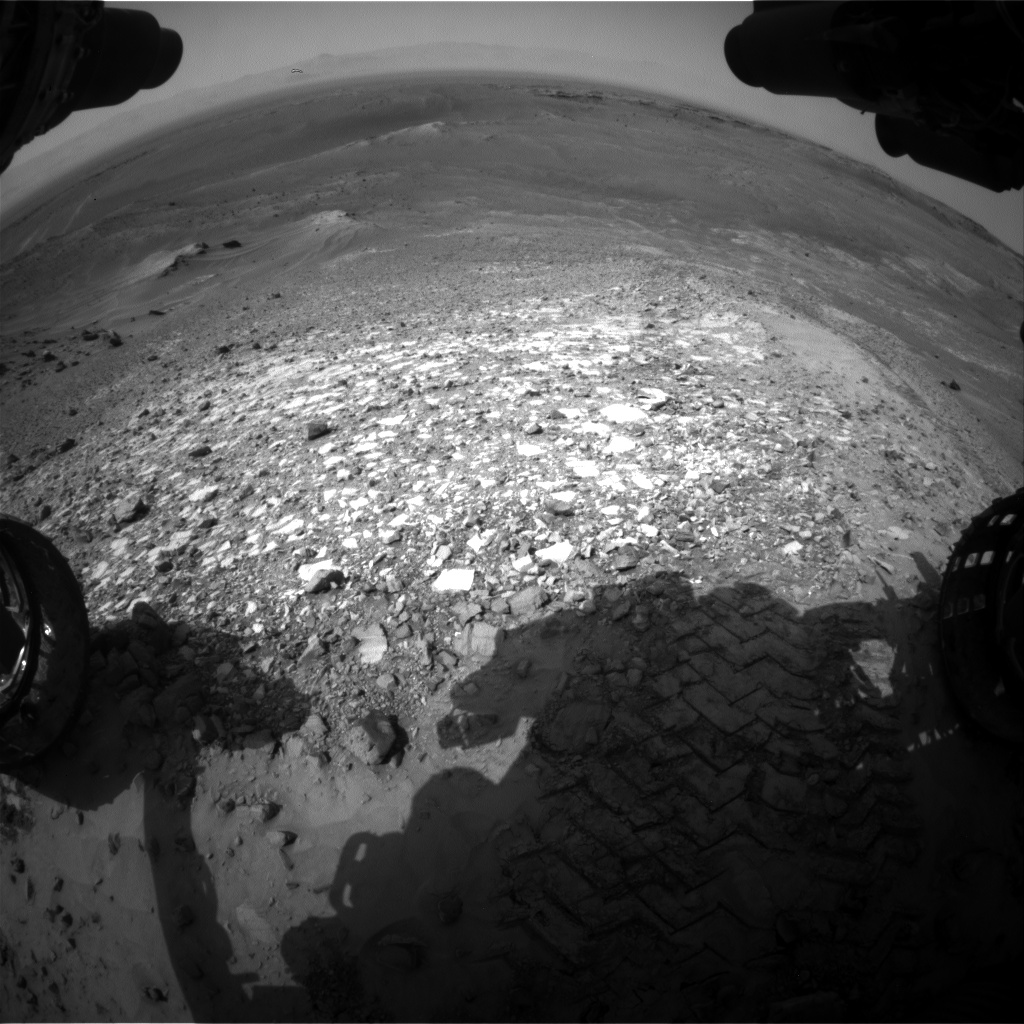 Nasa's Mars rover Curiosity acquired this image using its Front Hazard Avoidance Camera (Front Hazcam) on Sol 1037, at drive 1964, site number 48