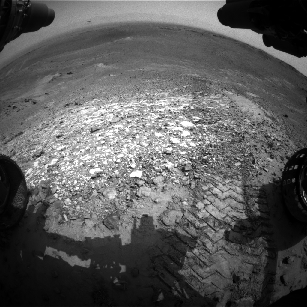 Nasa's Mars rover Curiosity acquired this image using its Front Hazard Avoidance Camera (Front Hazcam) on Sol 1038, at drive 1964, site number 48