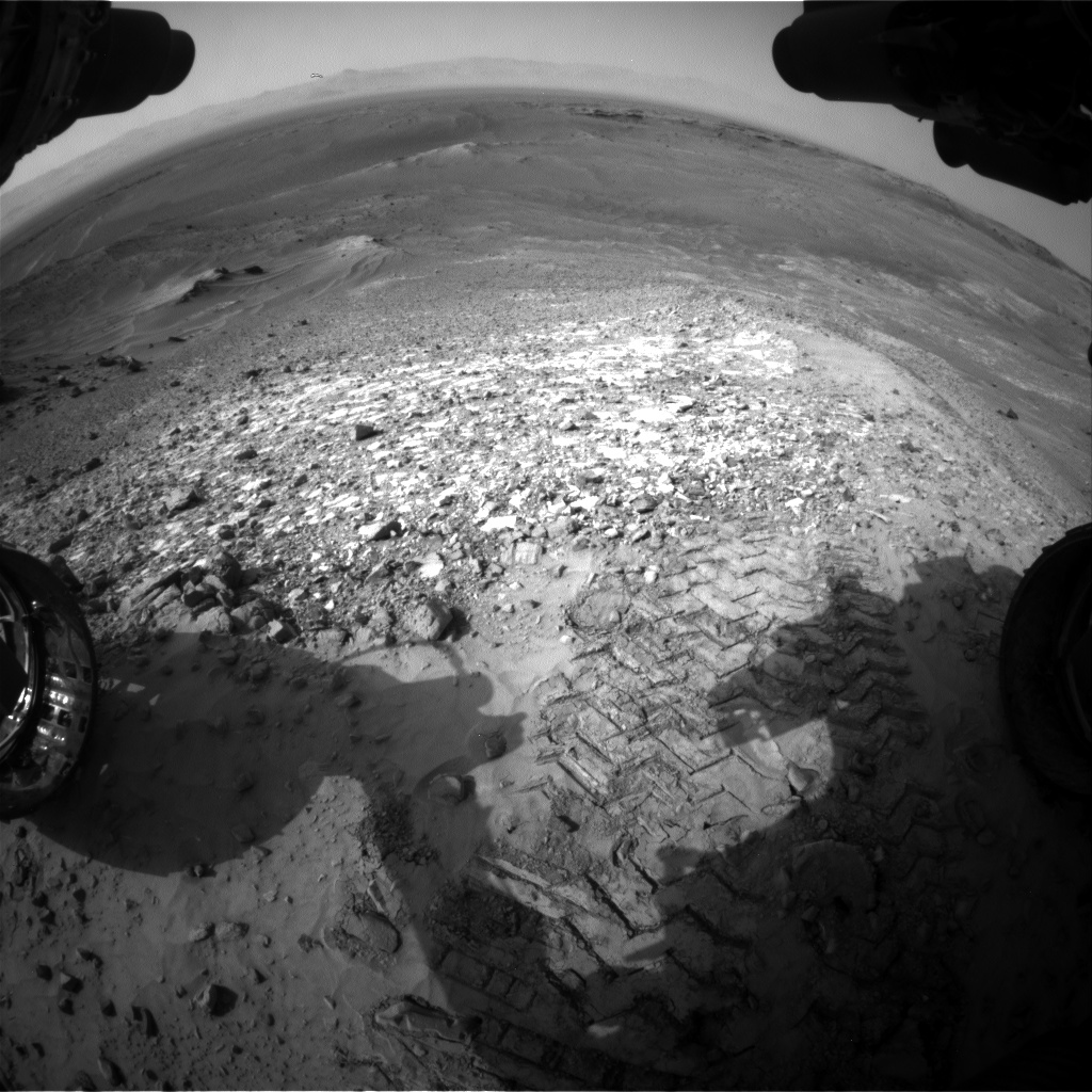 Nasa's Mars rover Curiosity acquired this image using its Front Hazard Avoidance Camera (Front Hazcam) on Sol 1039, at drive 1970, site number 48