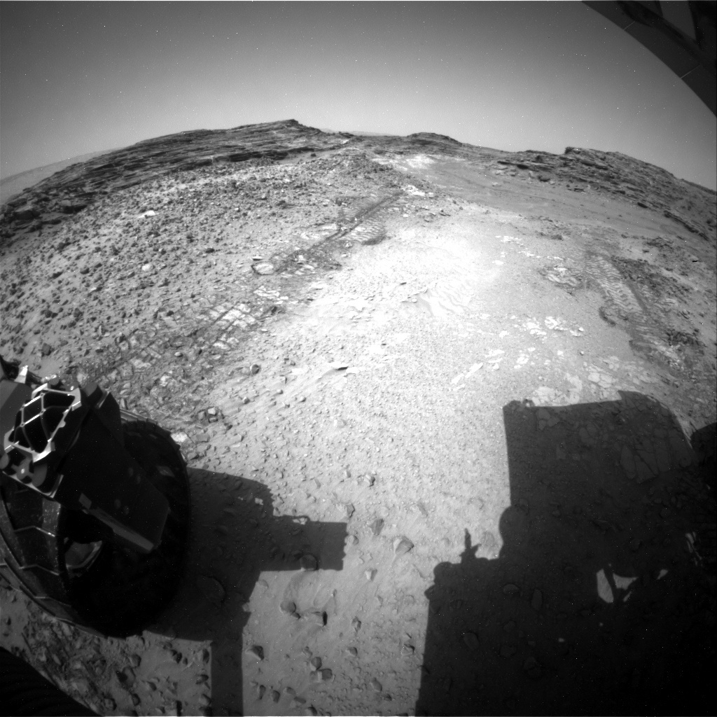 NASA's Mars rover Curiosity acquired this image using its Rear Hazard Avoidance Cameras (Rear Hazcams) on Sol 1039