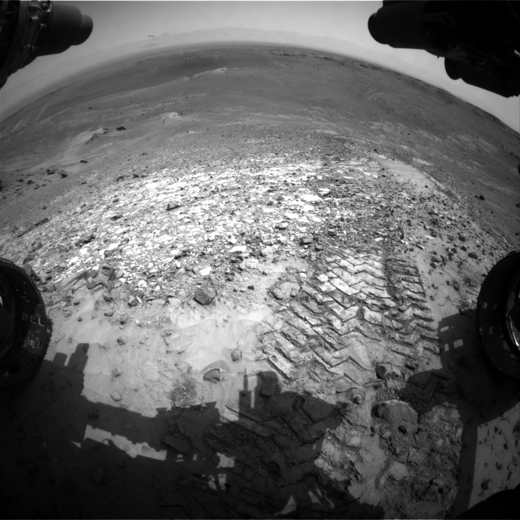 NASA's Mars rover Curiosity acquired this image using its Front Hazard Avoidance Cameras (Front Hazcams) on Sol 1040