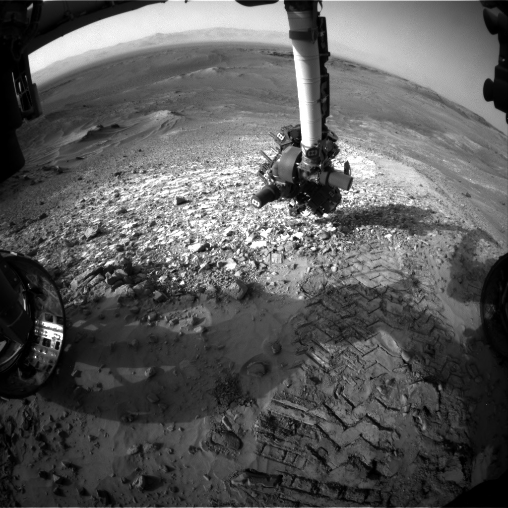 NASA's Mars rover Curiosity acquired this image using its Front Hazard Avoidance Cameras (Front Hazcams) on Sol 1041