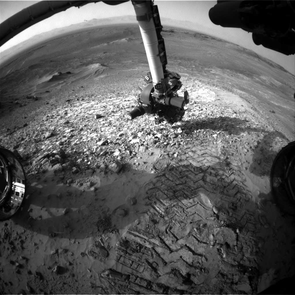 Nasa's Mars rover Curiosity acquired this image using its Front Hazard Avoidance Camera (Front Hazcam) on Sol 1041, at drive 1970, site number 48
