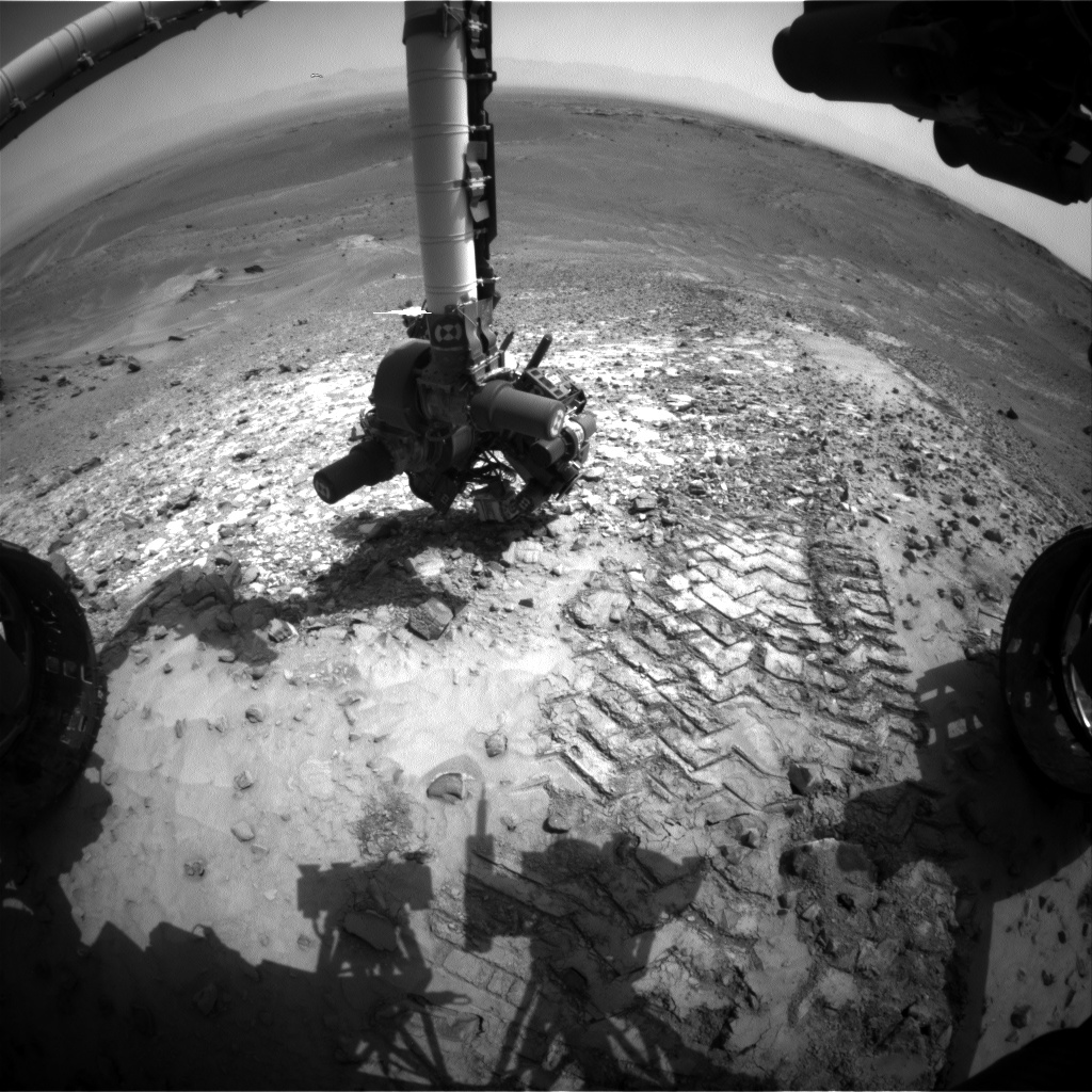 Nasa's Mars rover Curiosity acquired this image using its Front Hazard Avoidance Camera (Front Hazcam) on Sol 1042, at drive 1970, site number 48