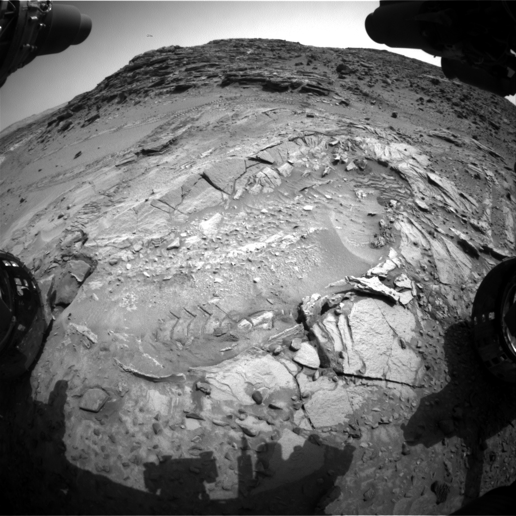 Nasa's Mars rover Curiosity acquired this image using its Front Hazard Avoidance Camera (Front Hazcam) on Sol 1042, at drive 2122, site number 48