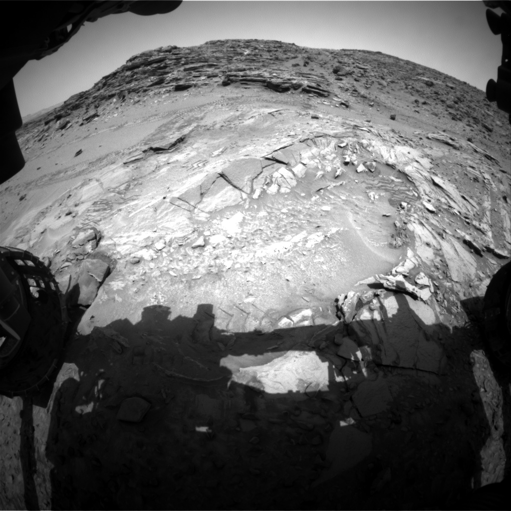 Nasa's Mars rover Curiosity acquired this image using its Front Hazard Avoidance Camera (Front Hazcam) on Sol 1043, at drive 2122, site number 48